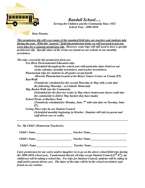field trip announcement template permission slip template playbestonlinegames