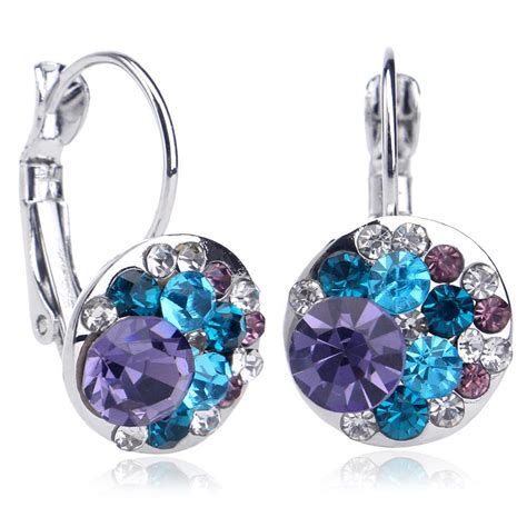ebay earrings women swarovski crystal earring jewelry 18k white gold