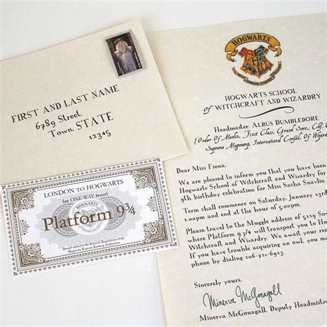 Acceptance Letter Sle For Birthday 25 Best Ideas About Harry Potter Tickets On Hogwarts Harry Potter