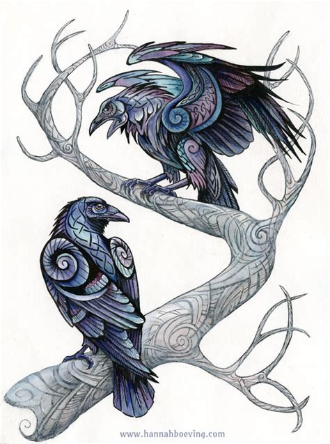 huginn and muninn tattoo huginn and muninn by benu h on deviantart