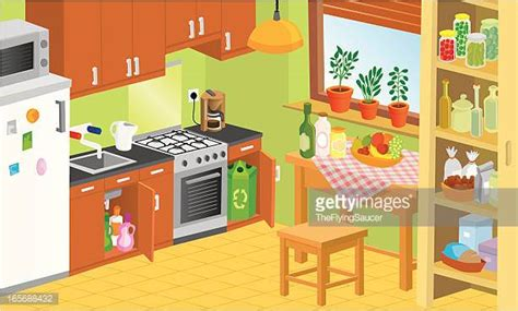 kitchen cartoon kitchen counter stock illustrations and cartoons getty