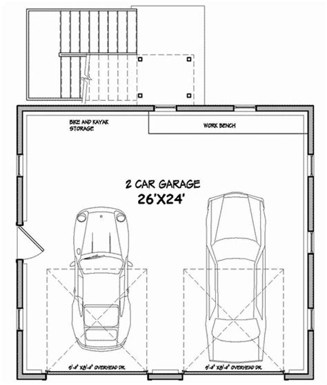 2 1 2 car garage size home design architectural designs