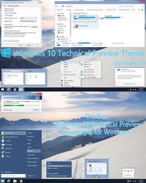 tech themes for windows 10 windows 10 tech preview for consumer theme for windows 7