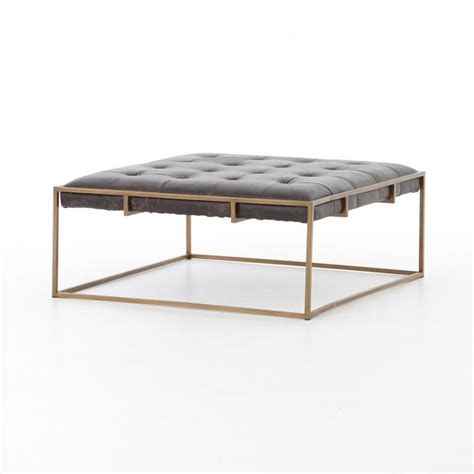 rectangular leather ottoman coffee table best 25 ottoman coffee tables ideas on tufted