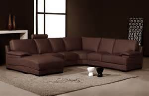 L Shaped Sofa With Chaise Lounge L Shaped Brown Leather Sleeper Sofa With Chaise Lounge Combined Ith Rectangle Brown Rug In Brown