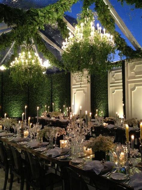 wedding decoration trend floralgreenery chandelier