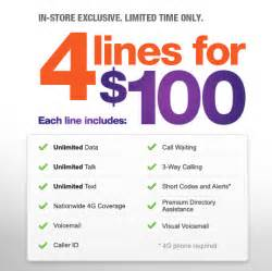 metropcs home new metropcs 4 lines for 100 family plan promotion