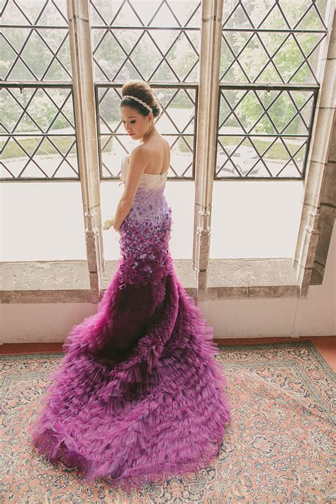 Purple Wedding Dresses Uk by A Purple Ombre And Floral Wedding Dress My Dress