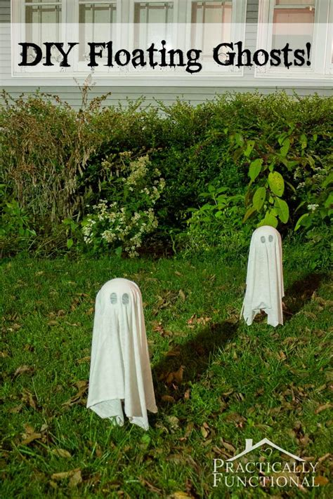 make your own halloween decorations gardening with children diy floating halloween ghosts for your yard