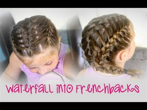waterfall into double frenchbacks | sport hairstyles youtube