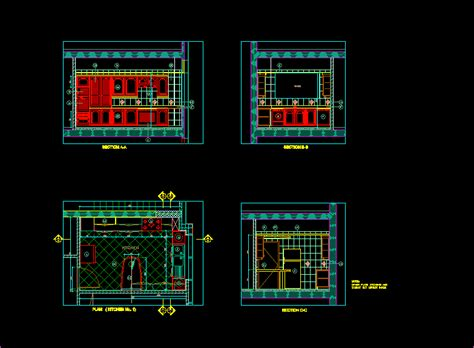 residential house kitchen  autocad  cad