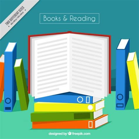 for colored book open book background with colored books vector free