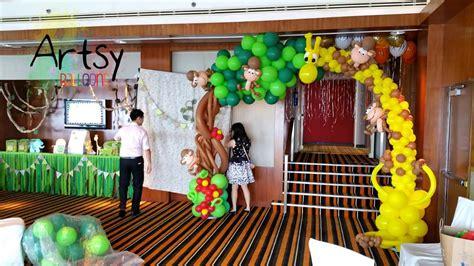 como decorar un salon de selva decoracion de fiesta animales de la selva youtube