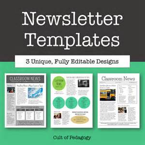 template newsletter free corkboard connections why no one reads your classroom