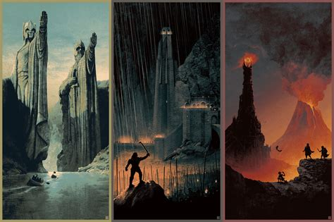 artist matt ferguson does an awesome poster for drive matt ferguson s lord of the ring posters are out of this