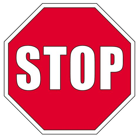 sign colors clip signs stop sign color abcteach