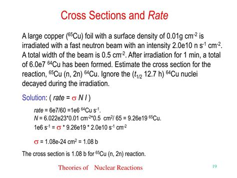 reaction cross section ppt nuclear reactions with respect to other changes
