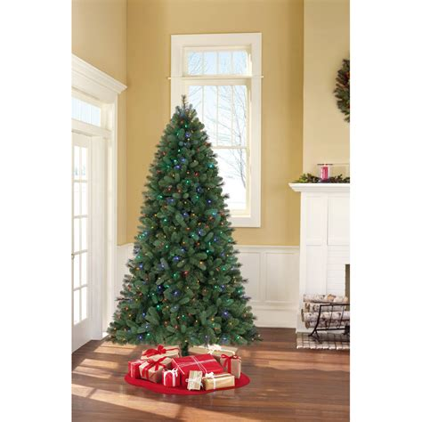 artificial christmas trees with lights attached holiday time pre lit 7 5 kennedy fir artificial christmas