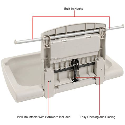 Changing Table Station Bathroom Supplies Baby Changing Tables Rubbermaid 174 Horizontal Baby Changing Station