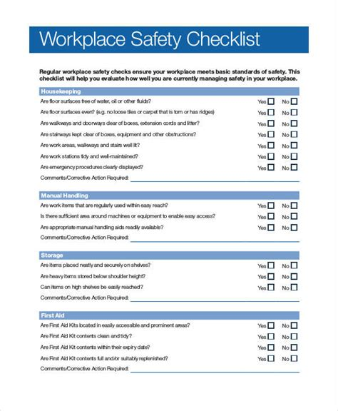 office safety checklist template 43 checklist templates exles sles