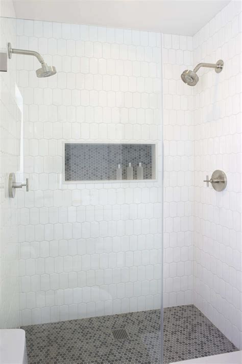 white tile shower tile design ideas