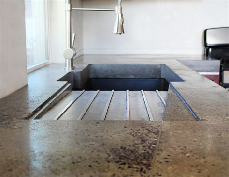 Cement Board Countertop by Drainboard Modern Kitchen Countertops Salt Lake City
