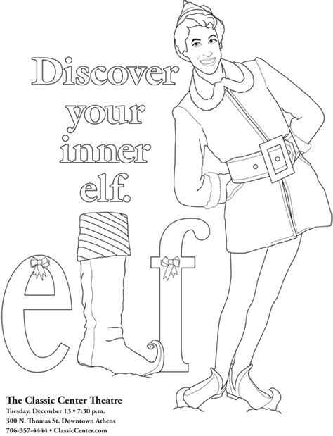 buddy the elf coloring pages coloring pages