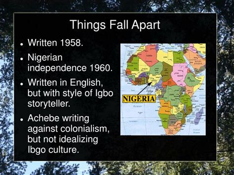 things fall apart book report ppt things fall apart background notes powerpoint
