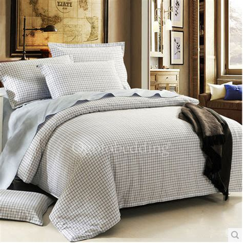 Cheap Duvet Covers White Plaid Simple Casual Cheap Duvet Covers Size