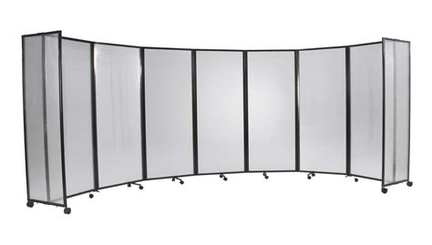 room divider on wheels distressed gray display curio