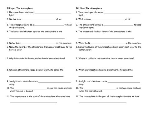 bill nye water cycle worksheet abitlikethis