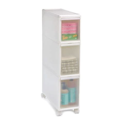 Bathroom Slimline Storage Tower The Container Store Like It Slim Tower Storage Organizing Pin