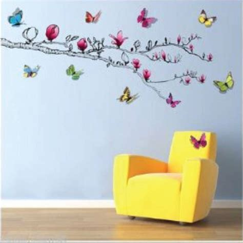 3d Wall Stickers Butterfly tree wall sticker with 3d butterfly s by kisses and
