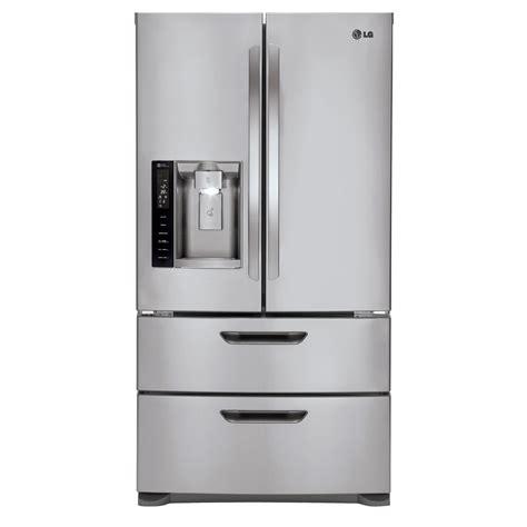 Door Drawer Freezer Refrigerator by Lg 24 7 Cu Ft Door Bottom Freezer Refrigerator