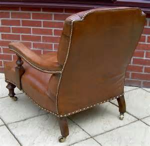 victorian leather armchair a victorian leather armchair antiques atlas