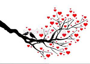 birds on a branch love birds in a heart tree