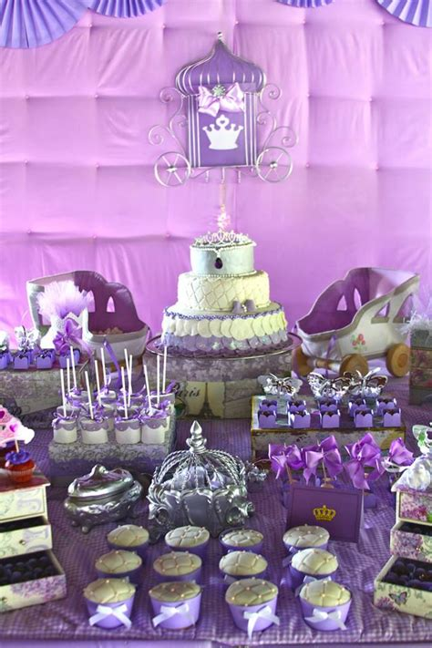 purple princess party  pink canaries