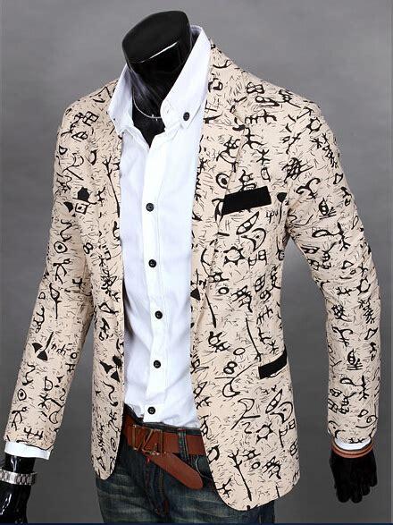 Fashion Style Korean Style Green Blazer mens printed blazer slim fit cotton korean style fashion