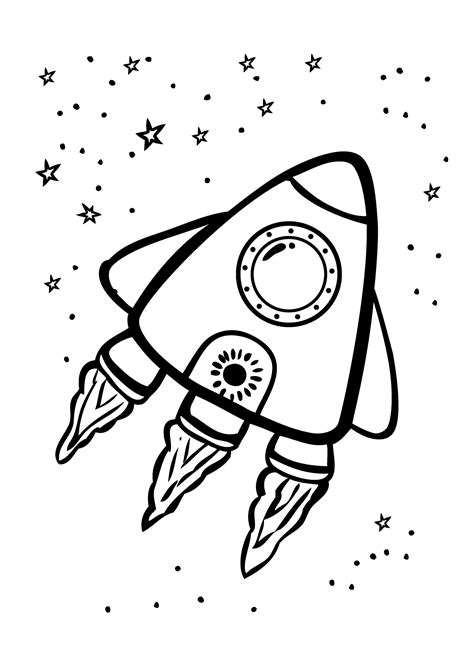 preschool rocket coloring page brave rocket in space coloring page for kids coloring
