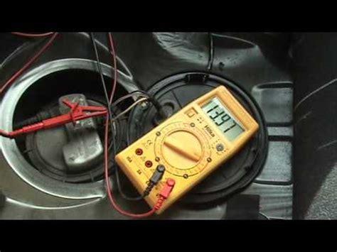 test  fuel pump  volt meter youtube