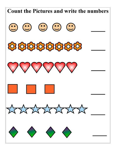 Count And Write Number Worksheets For Kindergarten by Count And Write