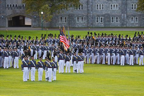 west point colors the pass in review in the west point band