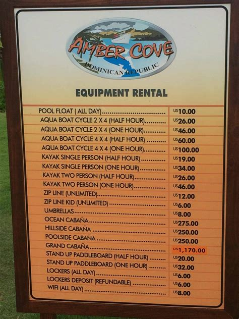 Rental Prices by Cove Equipment Rental Prices Cruise With Gambee