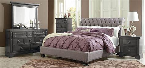 Upholstered Bed Set Garrison Soft Grey Upholstered Bedroom Set 863 51 52 Standard Furniture