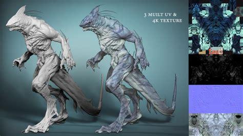 maya werewolf tutorial shark creature 4 4 by seungjae lee 3d artist