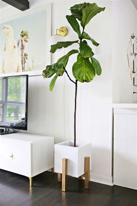 Midcentury Planter by Wooden Mid Century Plant Stand Diy A Beautiful Mess