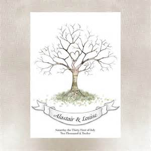 wedding fingerprint tree by lillypea event stationery