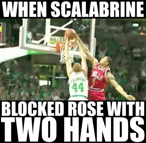 Scalabrine Memes - brian scalabrine lets derrick rose block him nba