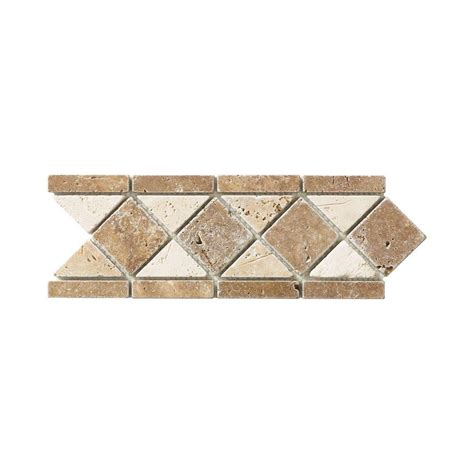 decorative accents jeffrey court tumbled noce listello 4 in x 12 in