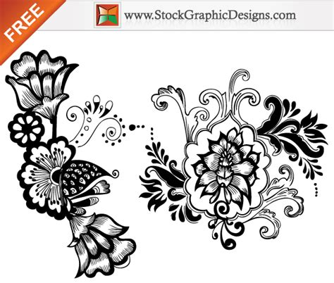 printable art designs beautiful floral free vector art designs download free